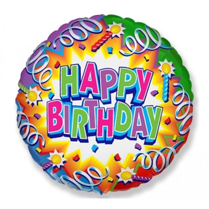 Happy Birthday su serpantinais
