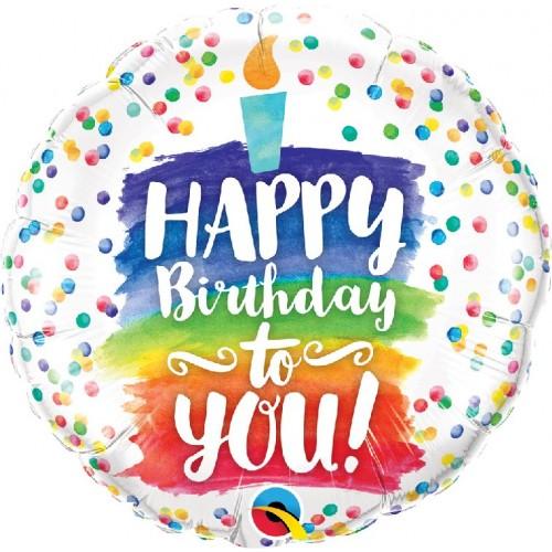 Happy Birthday su žvakute
