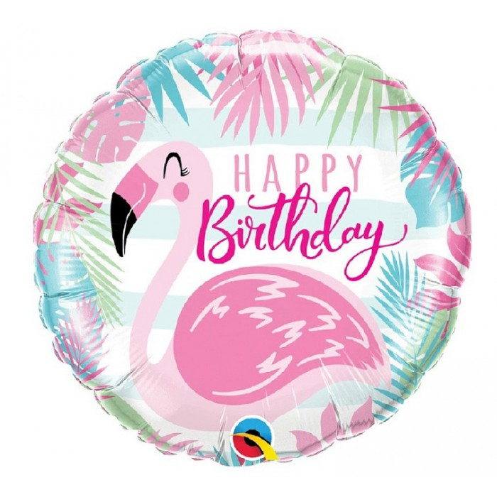 Happy Birthday su flamingu