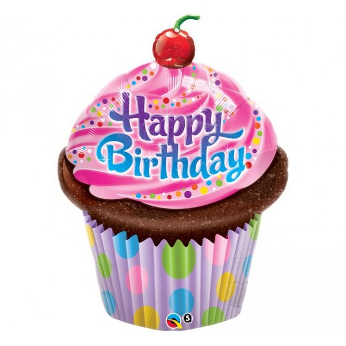 Happy Birthday - Keksiukas su vyšnia