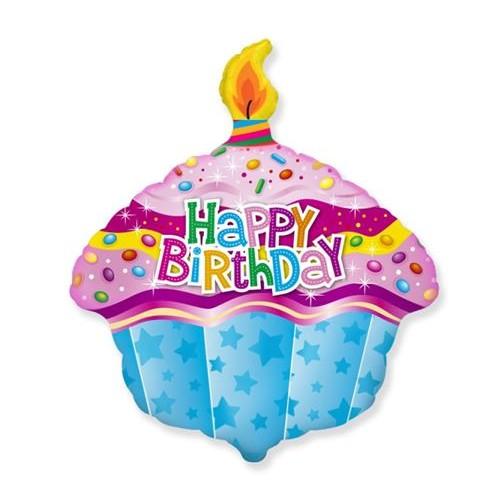 Happy Birthday - Keksiukas su žvakute