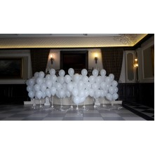 100 LED balionų