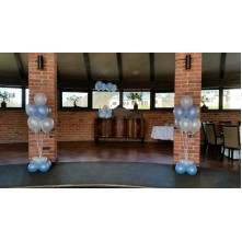 Balionų puokštės su dideliais svareliais