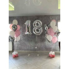 Foliniai skaičiai ir balionų puokštės