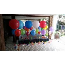 XL ir L dydžio bei standartiniai helio balionai