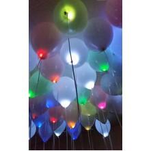 LED balionai su spalvotai mirksinčiom lemputėmis