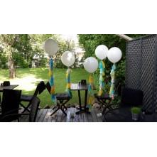L dydžio balionai su girliandų papuošimais