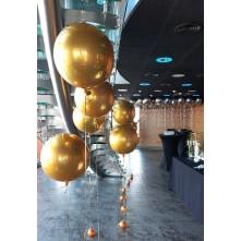 ORBZ balionai aukso spalvos