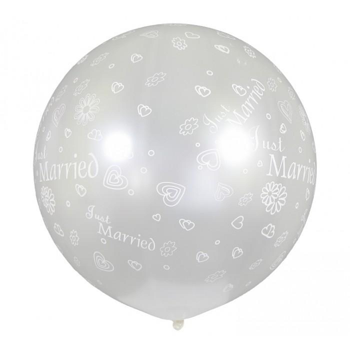 "XL dydžio balionas ""Just Married"""