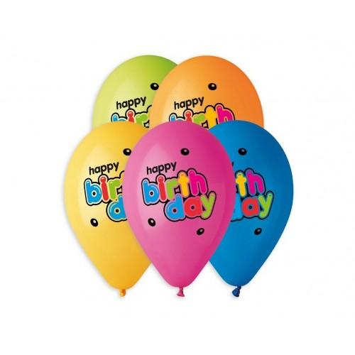 "Balionas ""Happy Birthday - colored"""