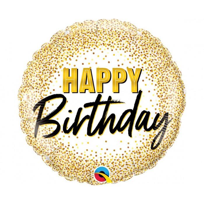 Happy Birthday su aukso taškeliais