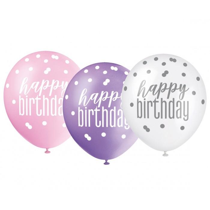 "Balionas ""Happy Birthday - round"""