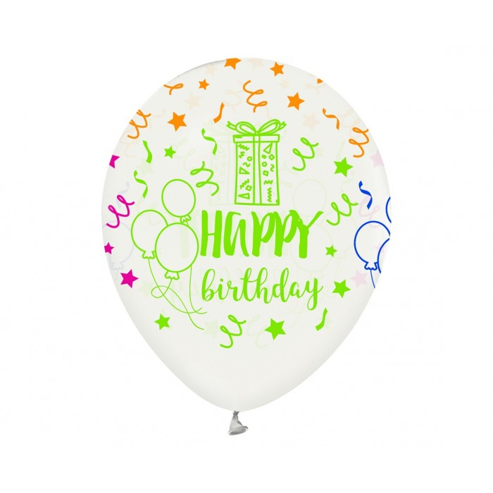 "Balionas ""Happy Birthday - stripes"""