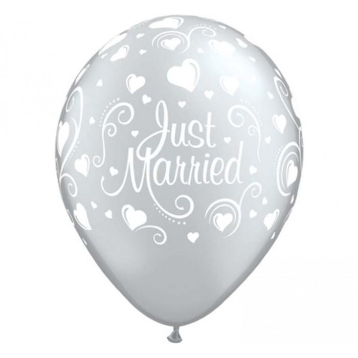 """Balionas """"Just Married"""" - pilkas"""