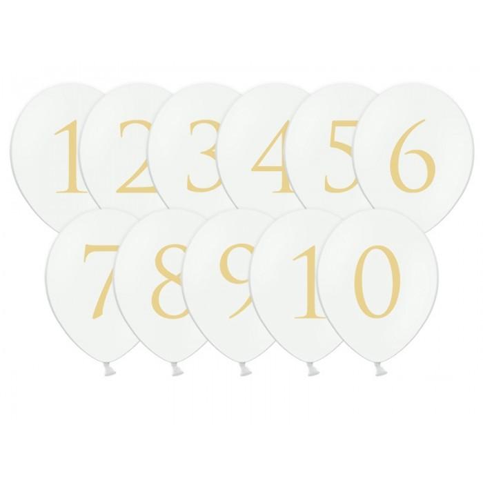 Balionas skaičius - aukso spalvos