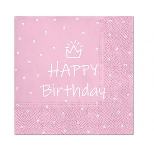"""Servetėlės """"Happy Birthday"""""""