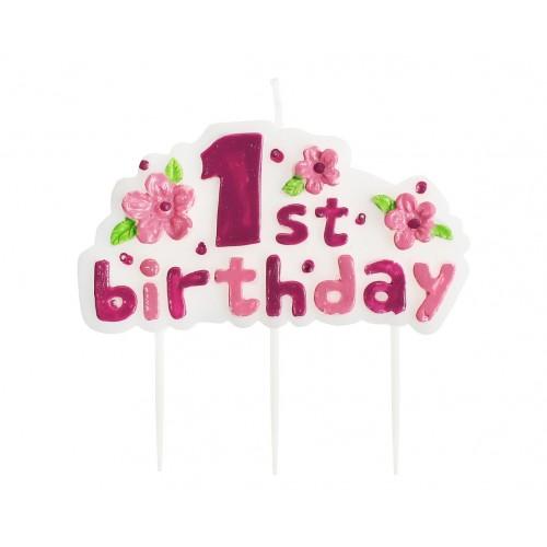 """Žvakutė """"1st birthday"""""""
