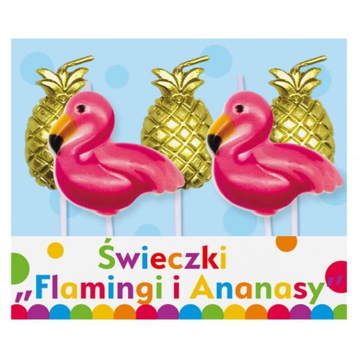 """Žvakutės """"Flamingai ir ananasai"""""""
